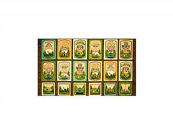 Outdoor Adventure Camping Mottos Picture 24 In. Patches Multi