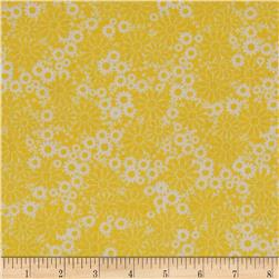 Baby Talk Splash Floral Yellow/White Fabric