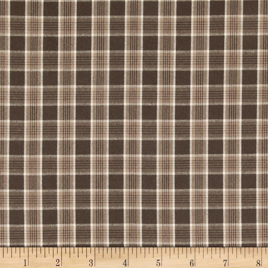 Kaufman Classic Threads Check Brown