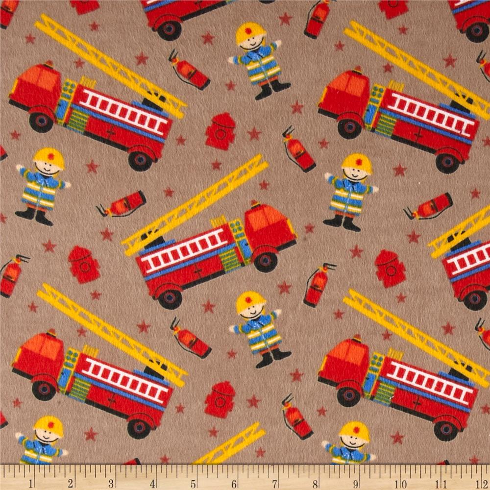 Flannel Prints Fire Chief Tan
