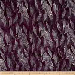 Bali Handpaints Batiks Dotted Leaves Zinfandel