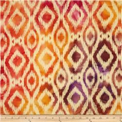 Textile Creations Batik Duck Diamond Ikat Pink/Orange