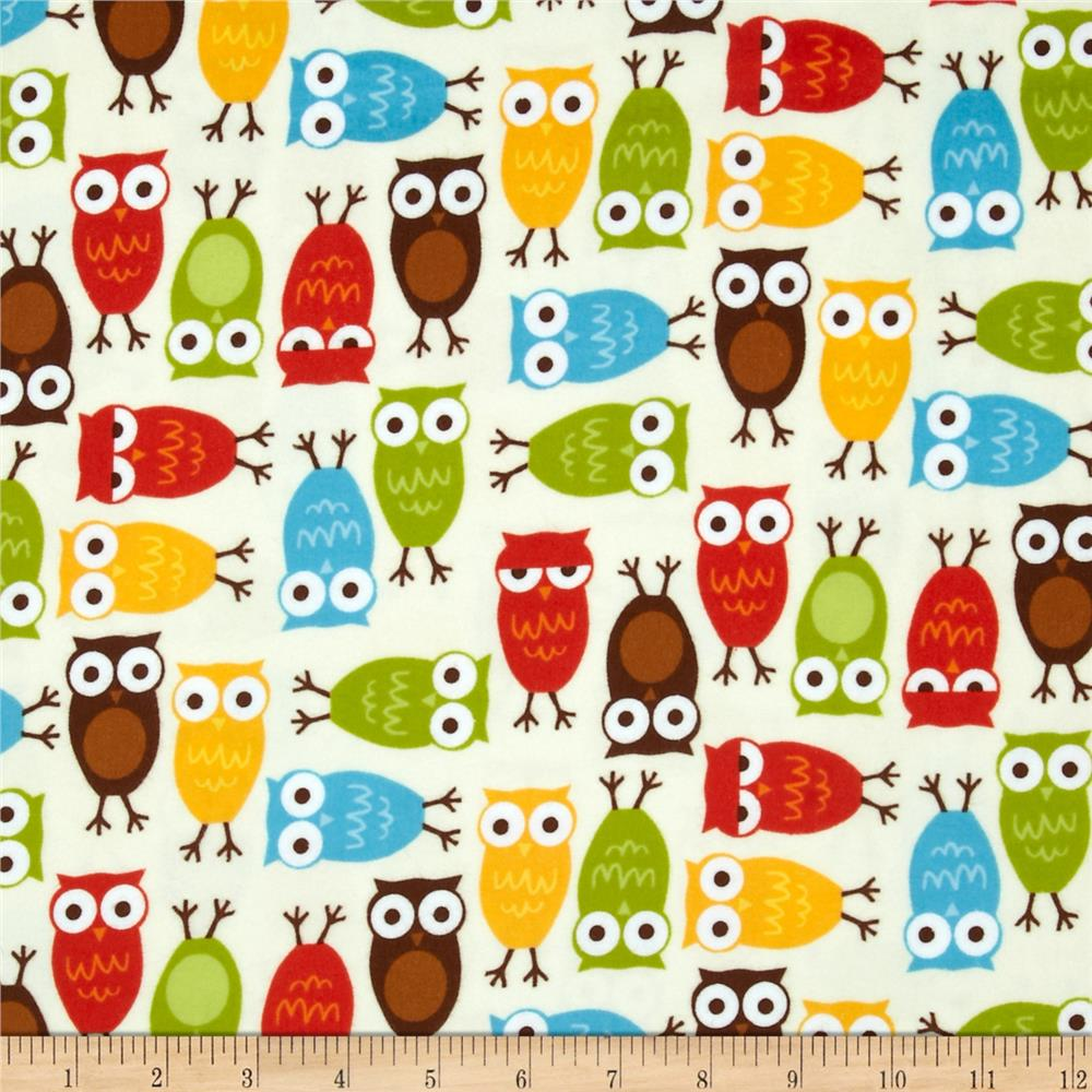 Urban Zoologie Flannel Owls Wild Fabric By The Yard