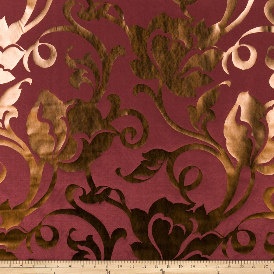 Image of Fabricut Sensational Wine Bronze