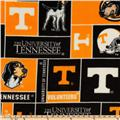 Collegiate Fleece University of Tennessee Block Orange/Black
