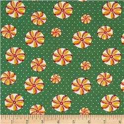 Back Porch Prints Peppermint Swirl Green