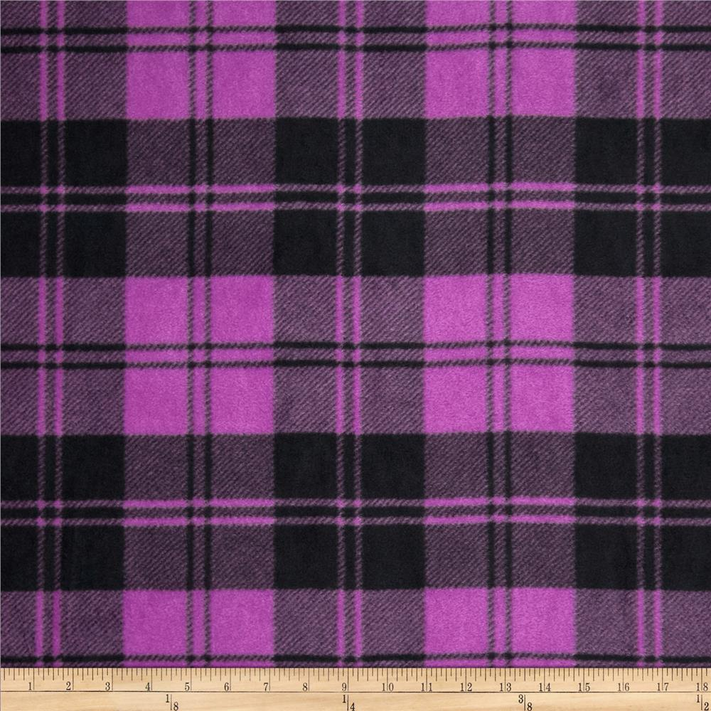 Winterfleece Double Take Plaid Orchid/Black