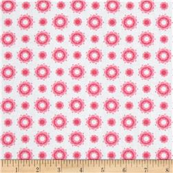 Small Daisy White/Pink