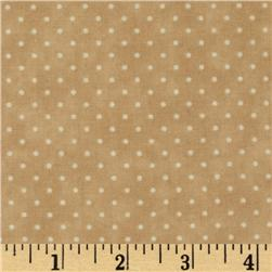 Moda Essential Dots (# 8654-43) Beige Fabric