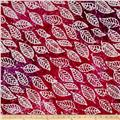 Indian Batik Cascades Leaf Pink/Purple
