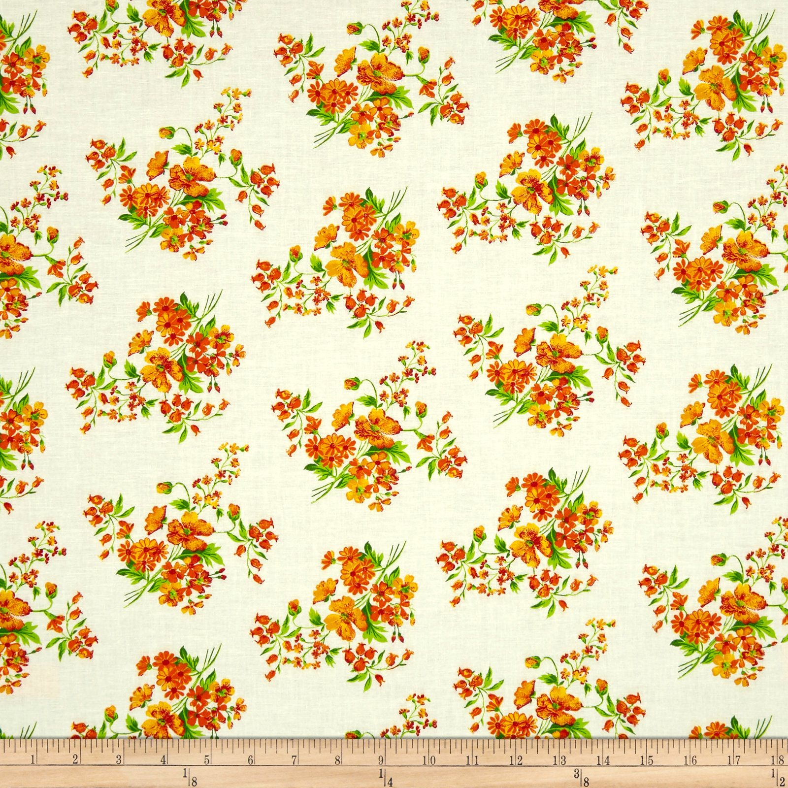 INOpets.com Anything for Pets Parents & Their Pets Botanical Garden Orange Fabric