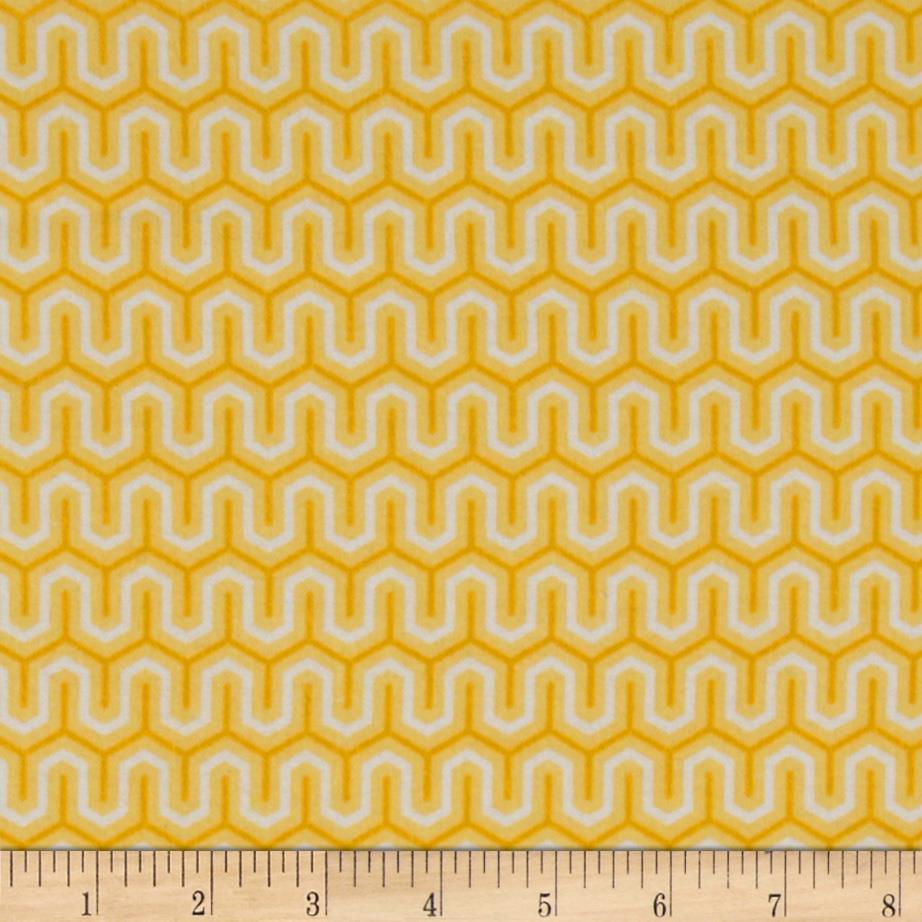 Riley Blake Flannel Simply Sweet Zig Zag Yellow
