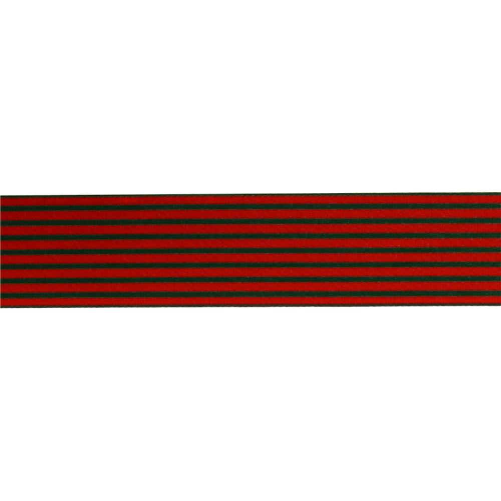 "May Arts 1 1/2""  Grosgrain Stripes Ribbon Spool Red/Green"