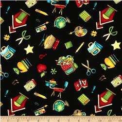 It's Elementary Motif Toss Black