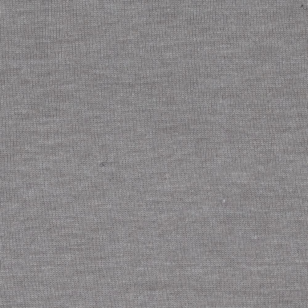 Cotton Poly Baby Rib Knit Heather Taupe Grey