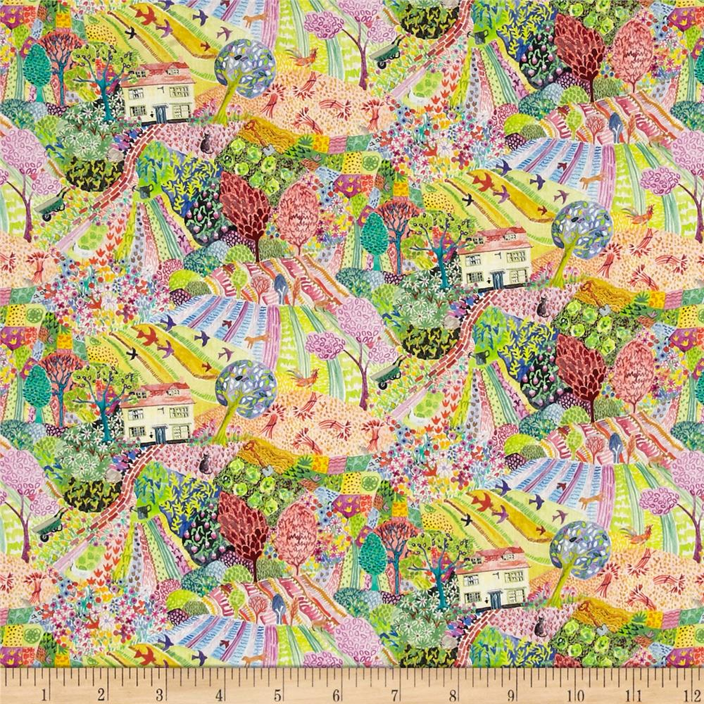 Liberty of London Tana Lawn Royal Oak House Rainbow
