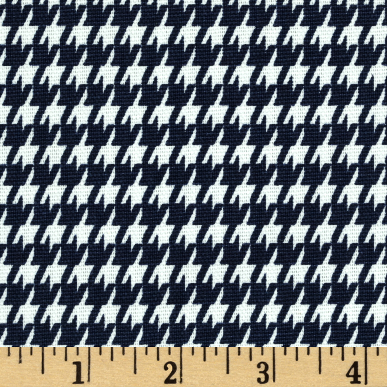 Premier Prints Houndstooth Navy Blue/White