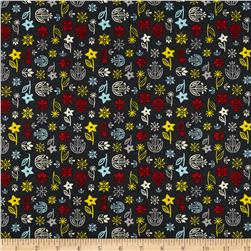 What's Cooking Floral Dark Grey Fabric