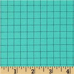 Kaufman Studio Stash Yarn Dye Large Check Aqua