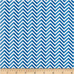 Riley Blake Star Spangled Stripes Chevron Blue