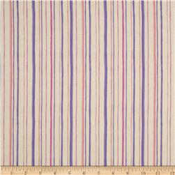 Fairies Of The Earth Stripes Plum Fabric