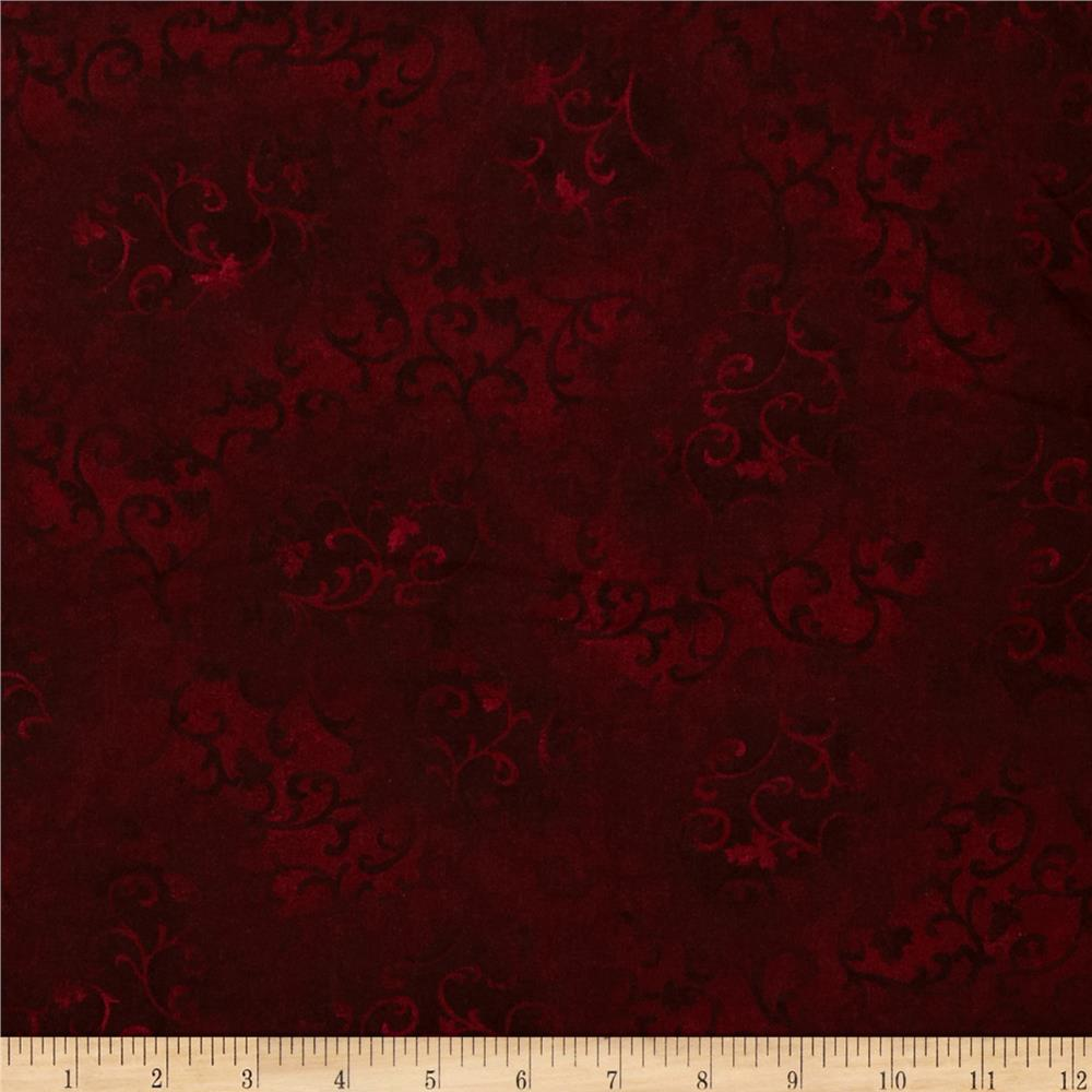 "108"" Essential Flannel Quilt Back Burgundy"