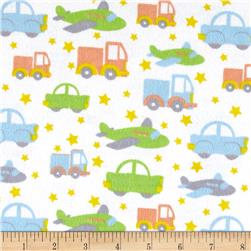 Flannel Bedtime Cars Green/Multi