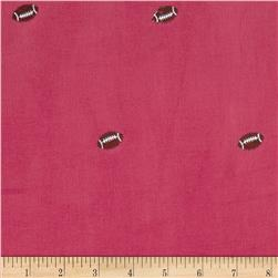Embroidered 21 Wale Corduroy Football Hot Pink/Brown