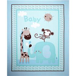 Baby Face Panel Blue Fabric