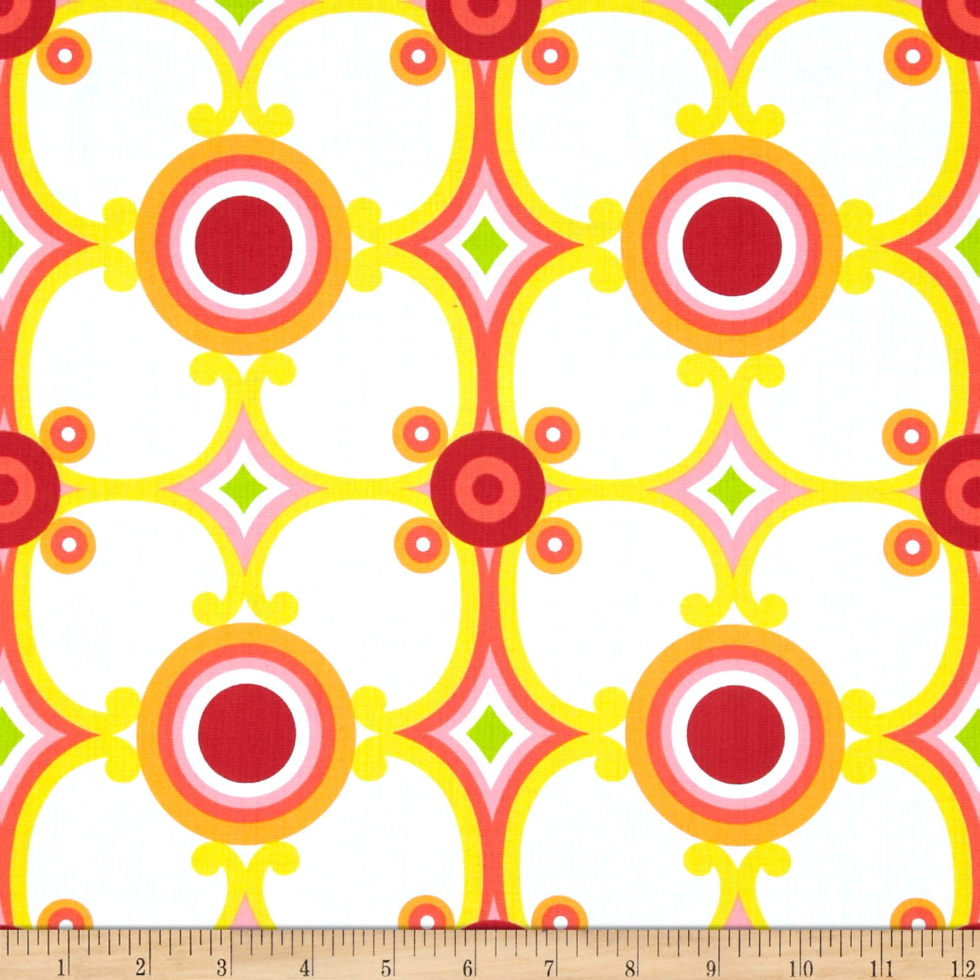Contempo Palm Springs Medallion Orange Fabric