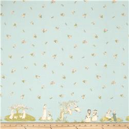 Lecien Kate Greenaway Border Print Blue