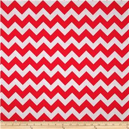 Riley Blake Wide Cut Chevron Medium Red/Gray Fabric