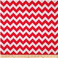Riley Blake Wide Cut Chevron Medium Red/Gray