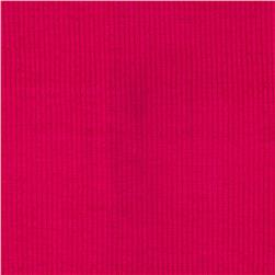 Ultra Stretch Rayon Rib Knit Hot Pink