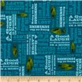 Outdoor Adventure Camping Mottos Tonal Teal