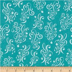 Perfect Pitch Music Notes Turquoise
