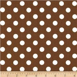 Teddy Bear Basics Polka Dot Brown/Ivory