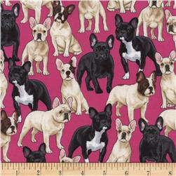 Timeless Treasures Puppies Pink