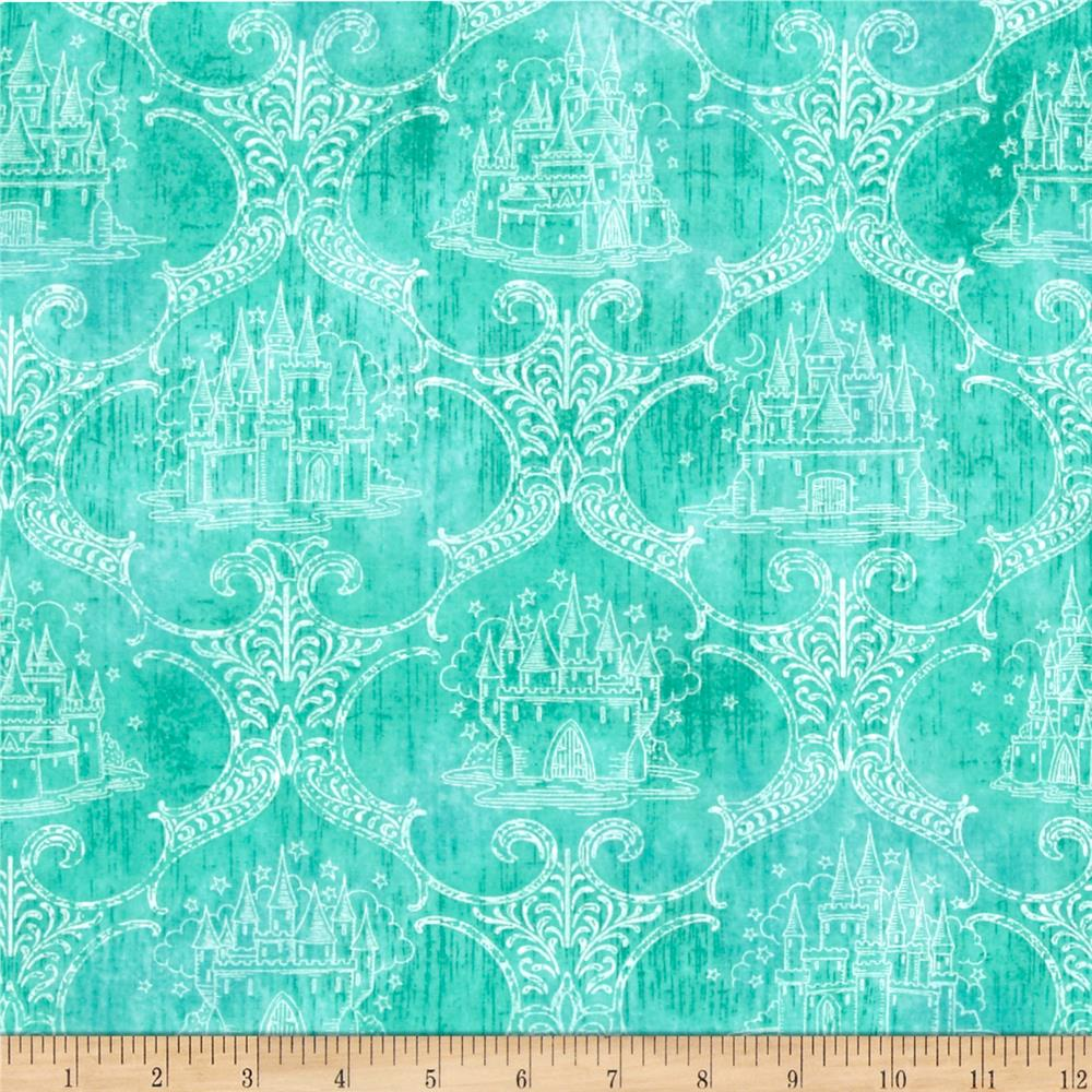 Royal Princess Castle Toile Dark Aqua
