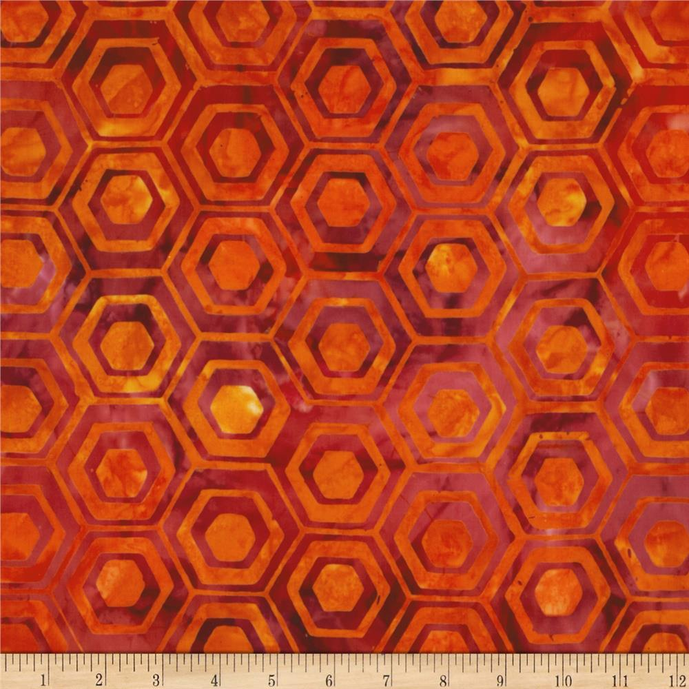 Indonesian Batiks Pop Art Hexagon Stripe Wild