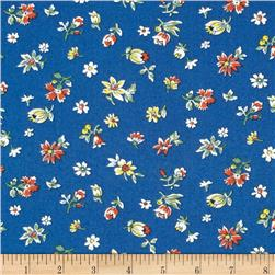 Fall Frolic Small Floral Blue
