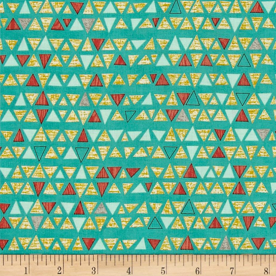 Moda Ninja Cookies Triangles Teal