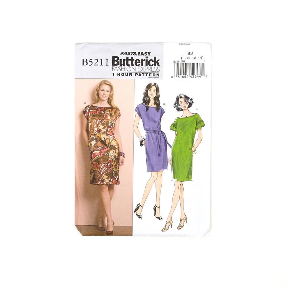 Butterick Misses' Dress and Belt Pattern B4790 Size BB