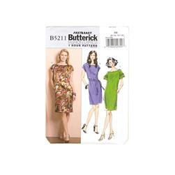 Butterick Misses' Dress and Belt Pattern B5211 Size BB0