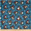 My Precious Quilt Snowman Allover Blue