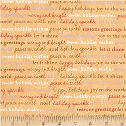 Holiday Sparkle Words Gold