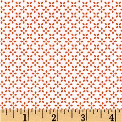 Uppercase Butterfly Floral Orange