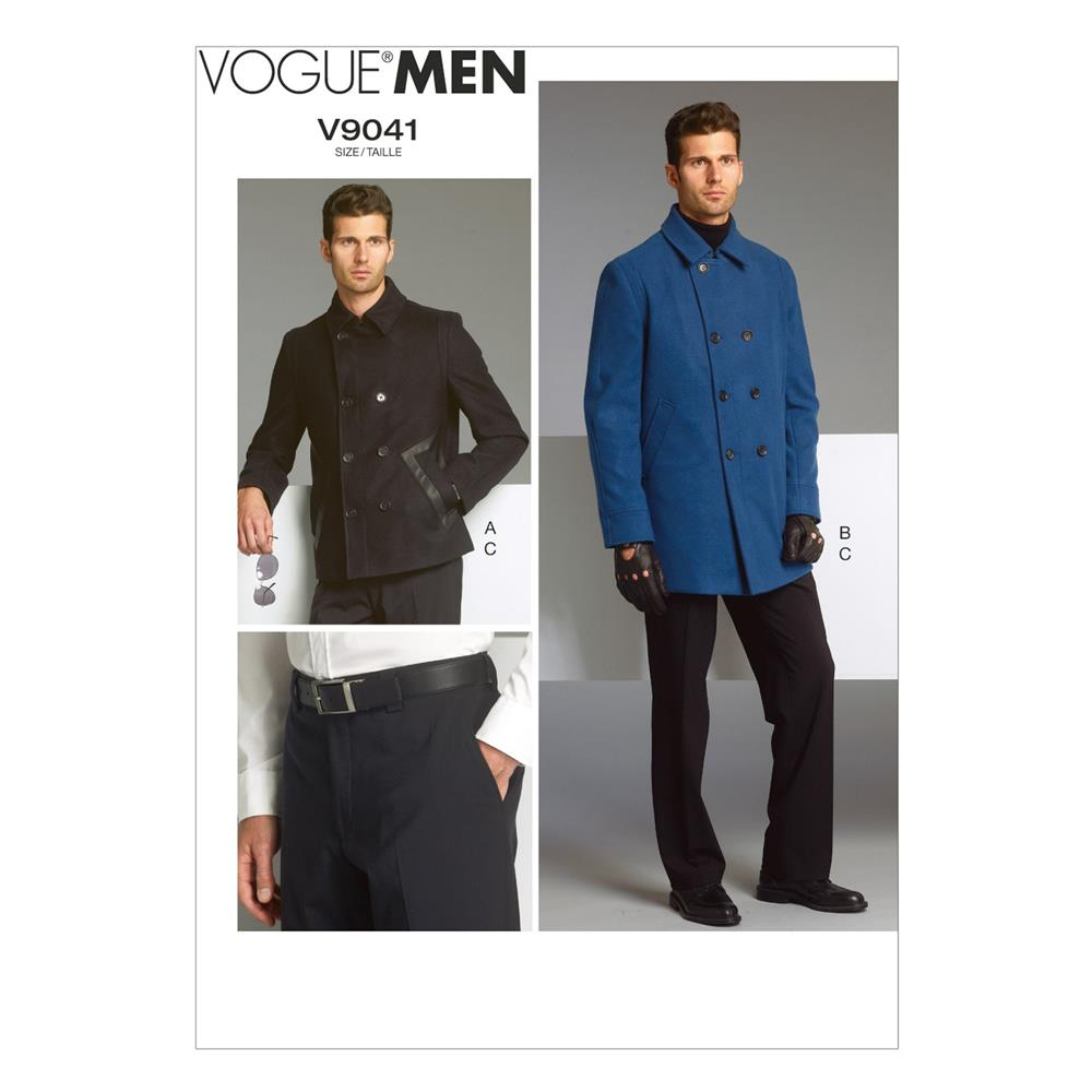 Vogue Men's Jacket and Pants Pattern V9041 Size MUU