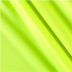 Activewear Spandex Knit Neon Yellow