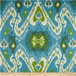 Waverly Enlightened Ikat Jade Fabric
